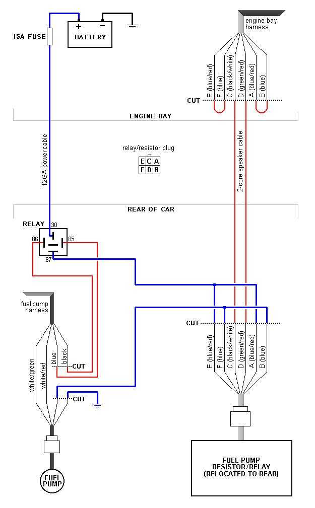 NZFUELPUMPREWIRE fc3s wiring diagram simple wiring diagrams \u2022 wiring diagrams j 350Z Fuel Pump Wire Harness at aneh.co